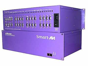 AV64X16S 64X64 VGA Switcher up to 100 feet with TCP/IP and Telnet control by Smartavi