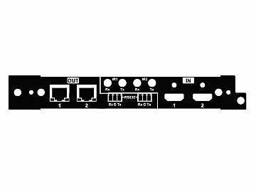 HX-100-LSC 100m/4K 2x I/O HDMI/HDBaseT left side Card for HX-88/1616-HDBT by Zigen